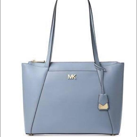 131a2e174909 Michael Kors Maddie Tote Handbag Purse blue